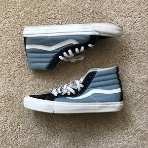 Light and Navy Blue Classic Vans High tops